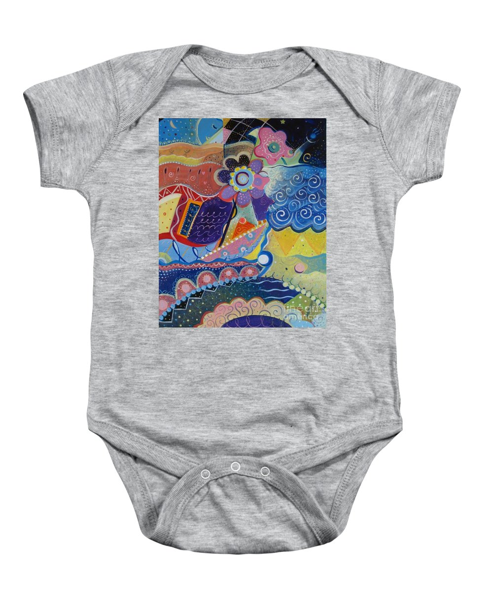 Imaginary Baby Onesie featuring the painting Fairy Tales by Helena Tiainen