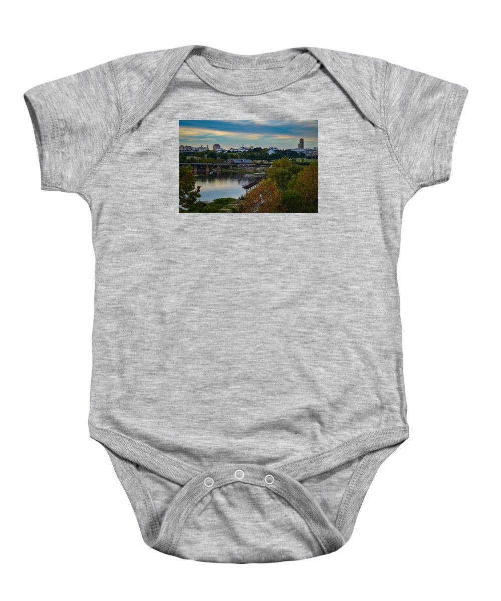 Richmond Baby Onesie featuring the photograph Fall Evening In Richmond by Aaron Dishner