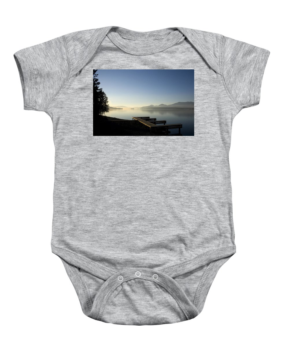 Landscape Baby Onesie featuring the photograph Fall Evening by Lee Santa