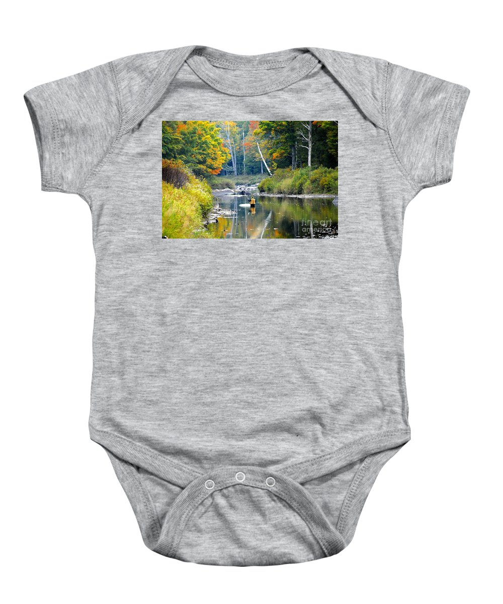 Fall Baby Onesie featuring the photograph Fall Fishing by David Lee Thompson