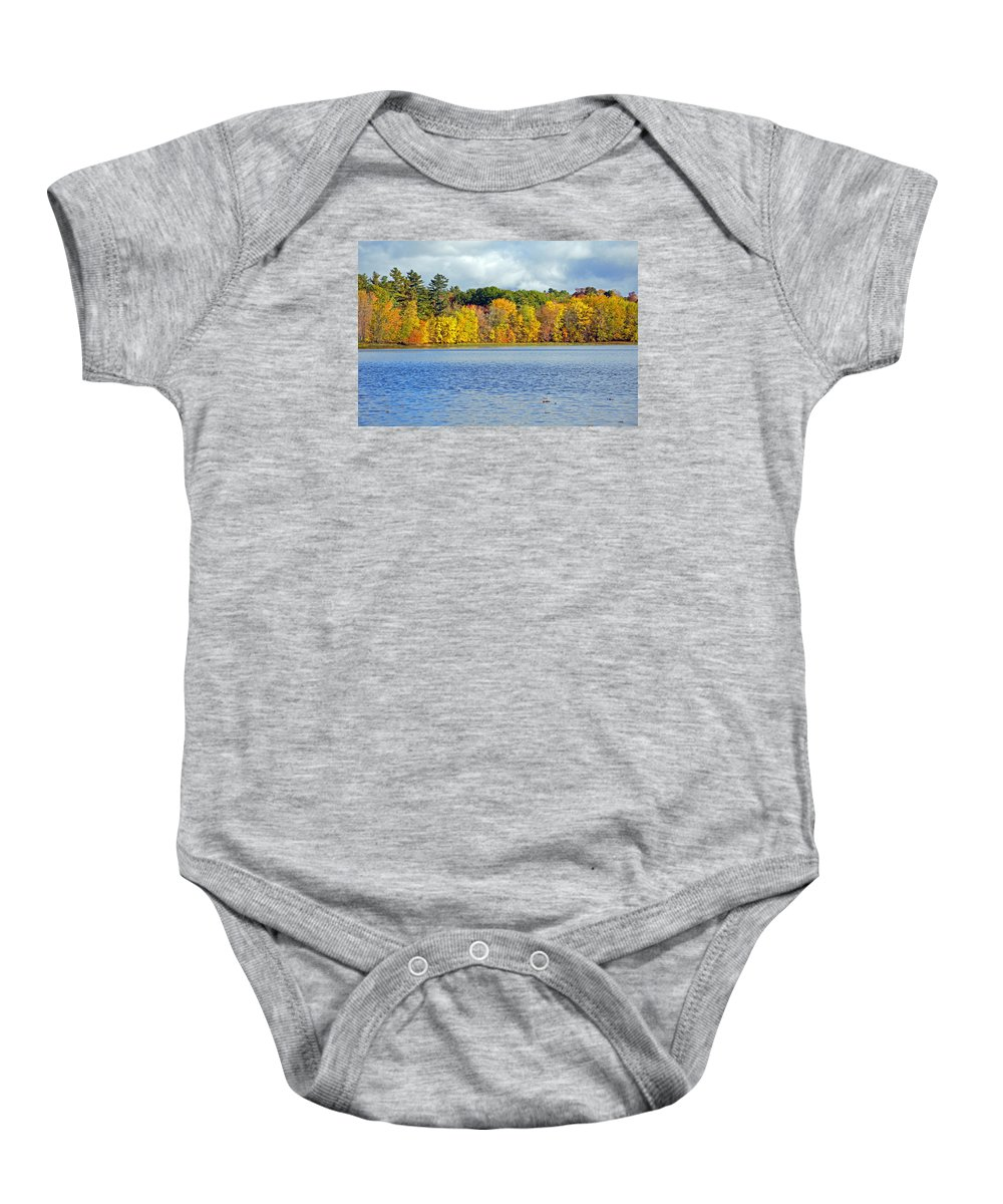 Trees Baby Onesie featuring the photograph Fall Splendor by Glenn Gordon
