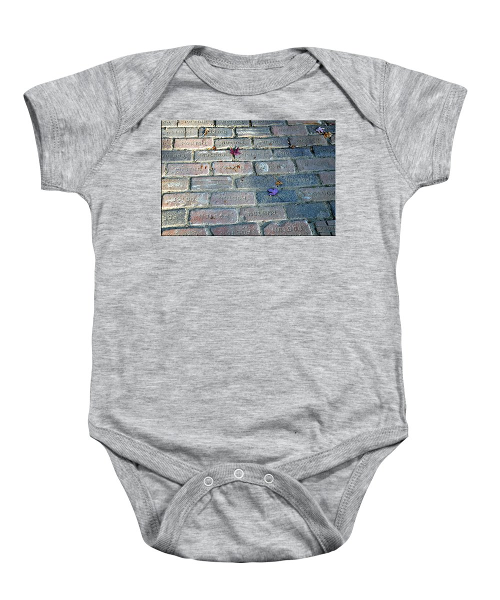 Leaves Baby Onesie featuring the photograph Fallen Leaves by Brittany Horton