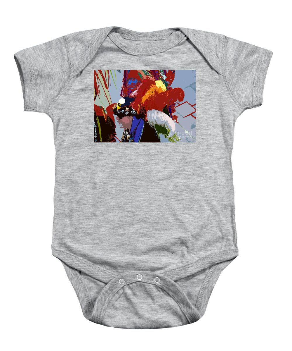 Pirate Baby Onesie featuring the painting Fancy Pirate by David Lee Thompson
