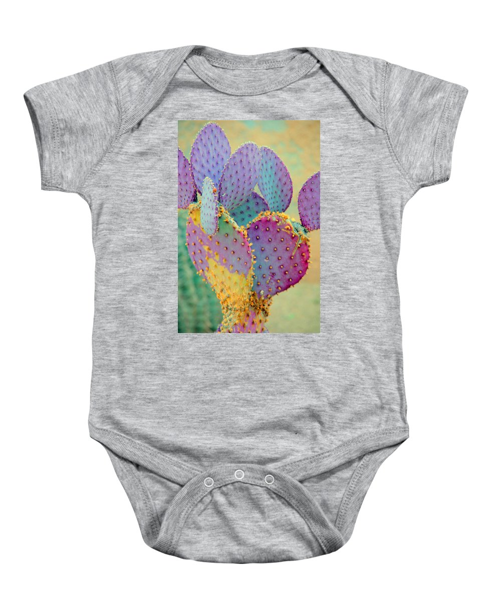 Cactus Baby Onesie featuring the photograph Fantasy Cactus by Susanne Van Hulst