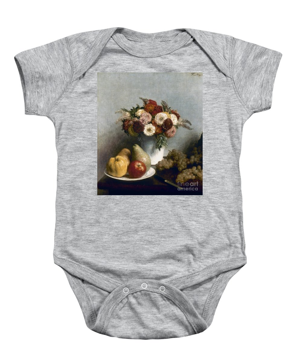 1865 Baby Onesie featuring the photograph Fantin-latour: Fruits, 1865 by Granger
