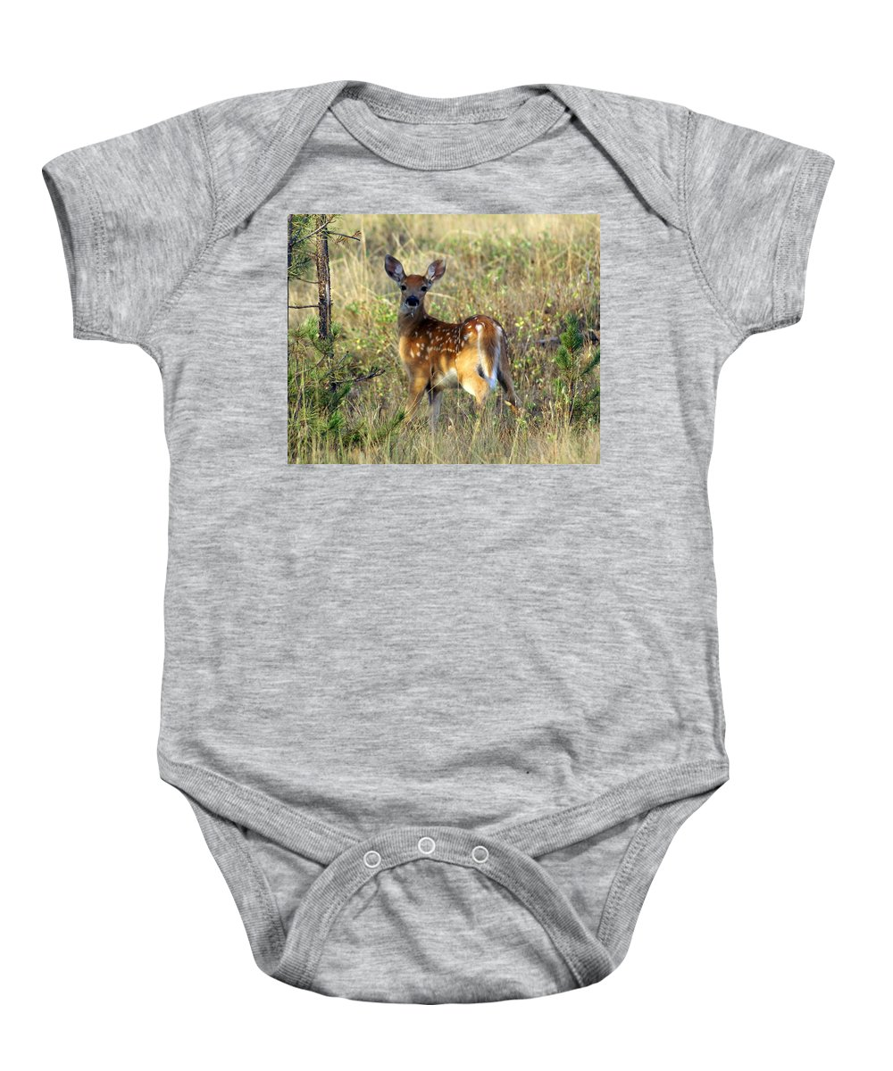Deer Baby Onesie featuring the photograph Fawn by Marty Koch