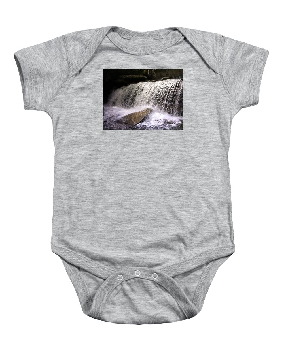 Waterfall Baby Onesie featuring the photograph Feeling The Falls by Kristine Nutt
