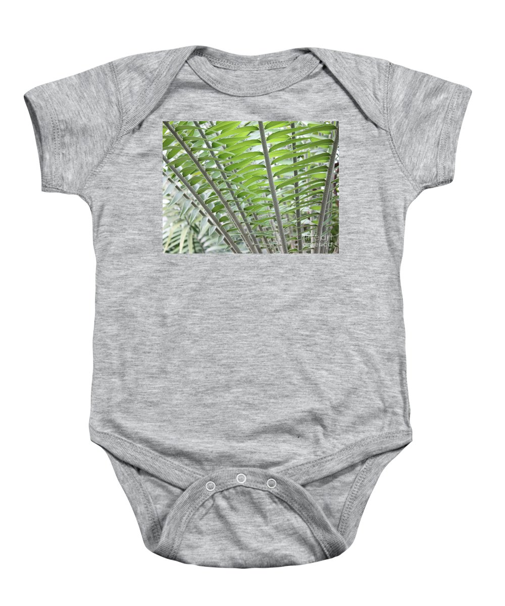 Fern Fronds Baby Onesie featuring the photograph Fern Fronds by Carol Groenen