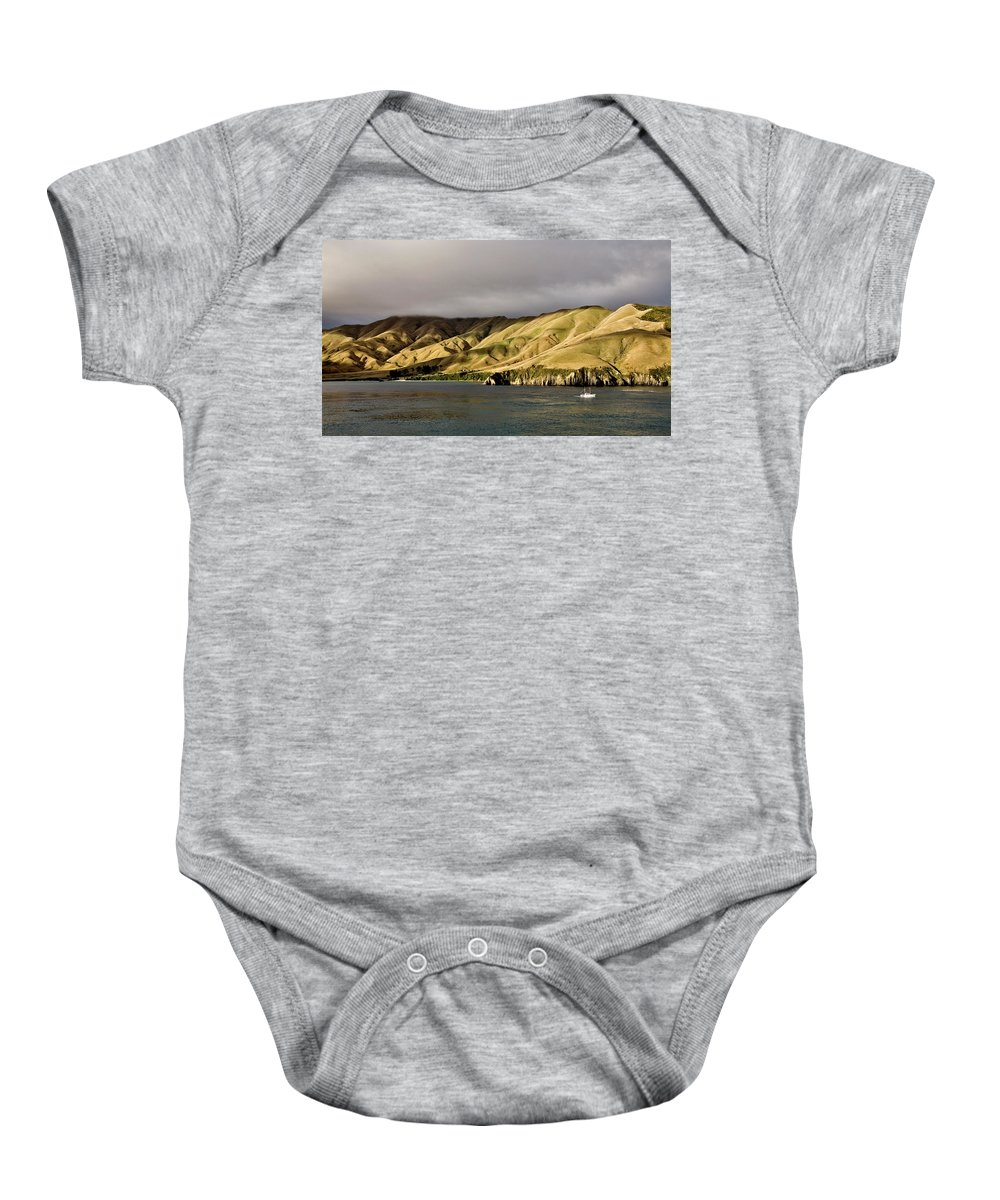 Sea Baby Onesie featuring the photograph Ferry View Picton New Zealand by Mark Duffy