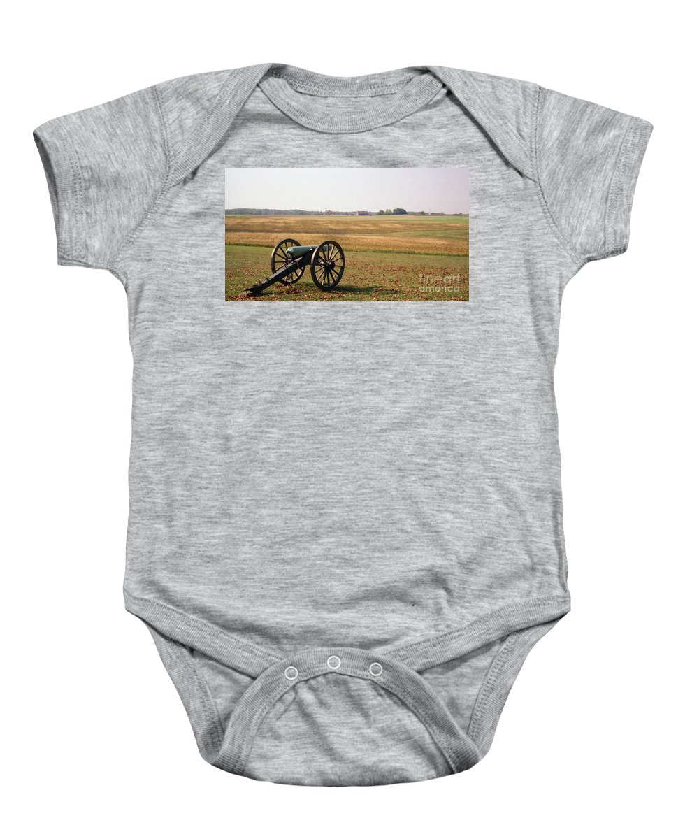 Civil War Baby Onesie featuring the photograph Fields Of Death by Richard Rizzo