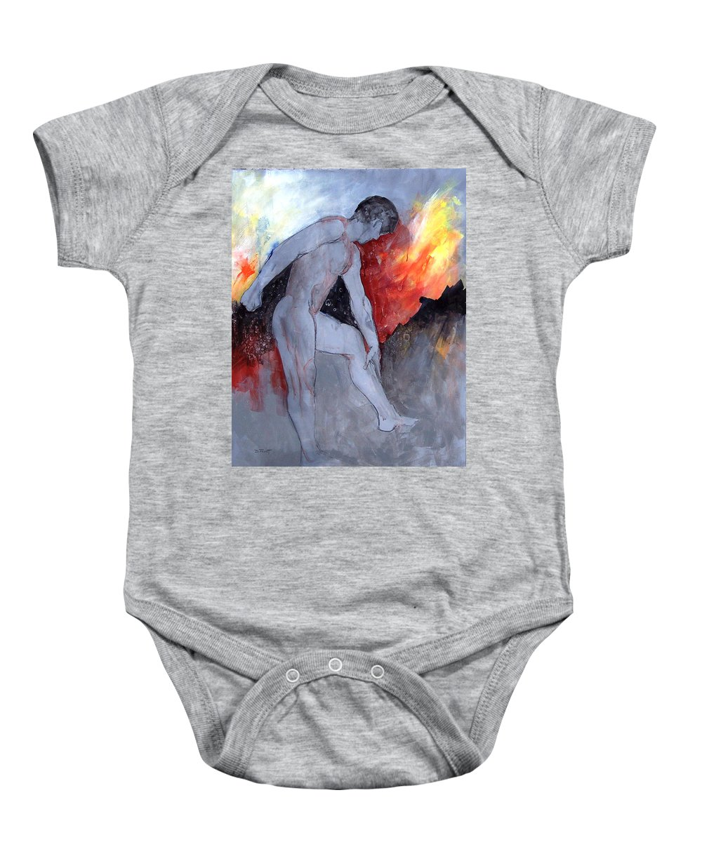 Abstract Figure Study Baby Onesie featuring the painting Figure Study 029 by Donna Frost