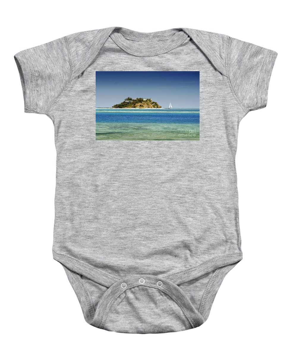 Afternoon Baby Onesie featuring the photograph Fiji, Wadigi Isle by Himani - Printscapes