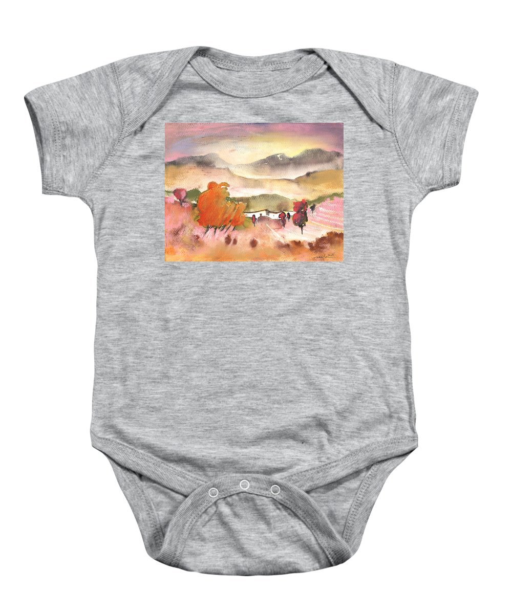 Travel Baby Onesie featuring the painting Finca In Spain by Miki De Goodaboom