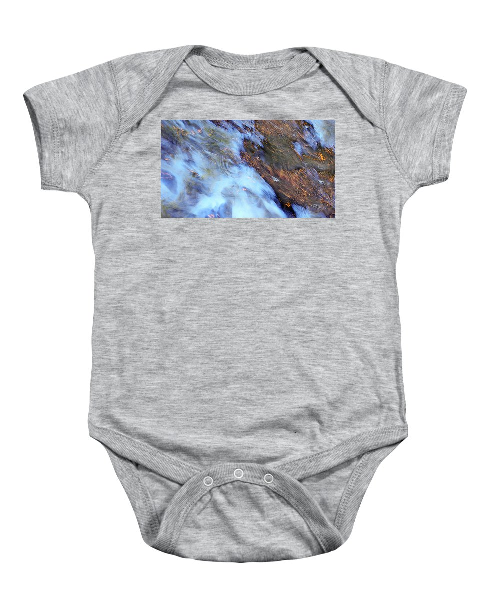 Water Baby Onesie featuring the photograph Fire And Water by Donna Blackhall
