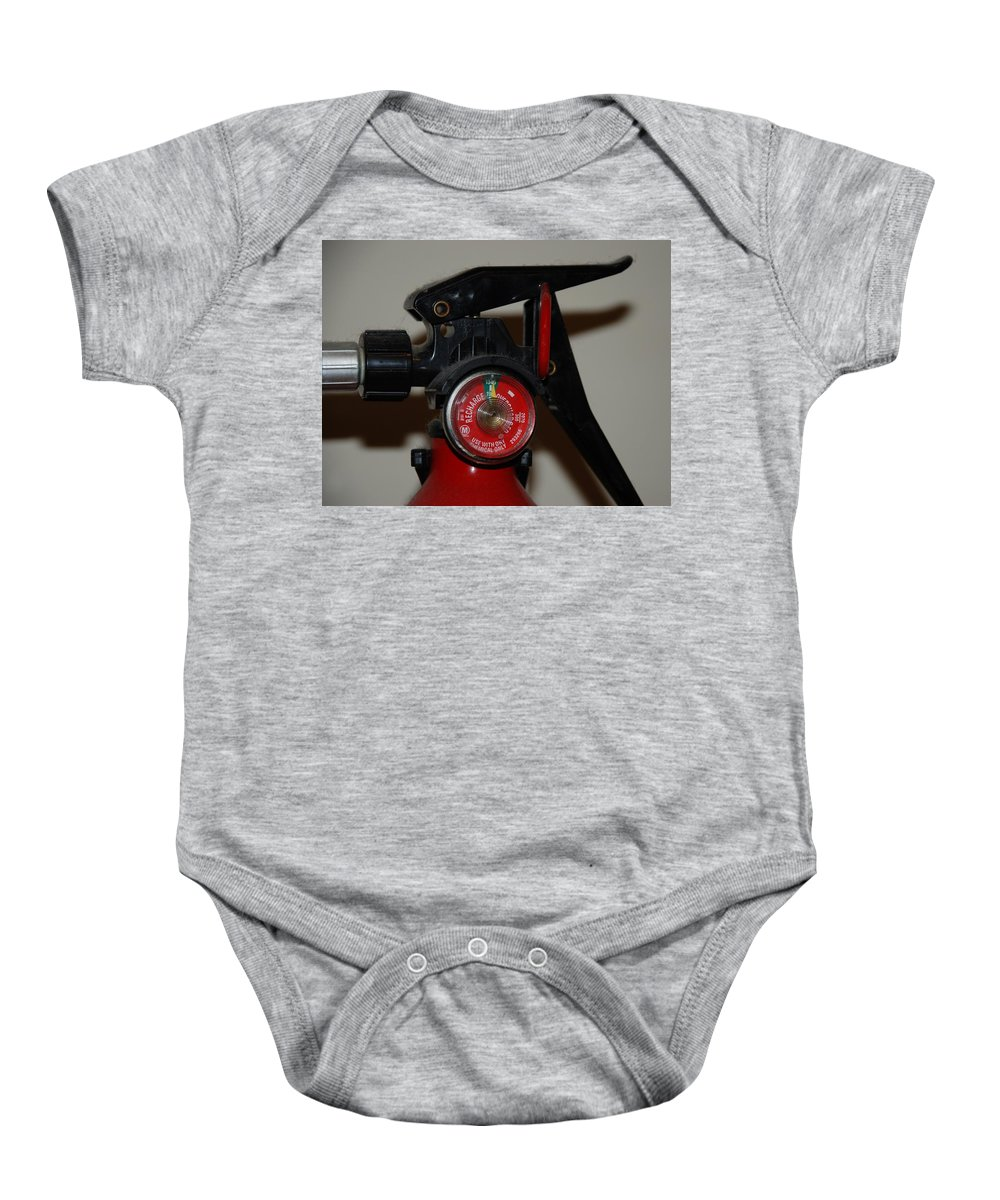 Fire Extinguisher Baby Onesie featuring the photograph Fire Extinguisher by Rob Hans