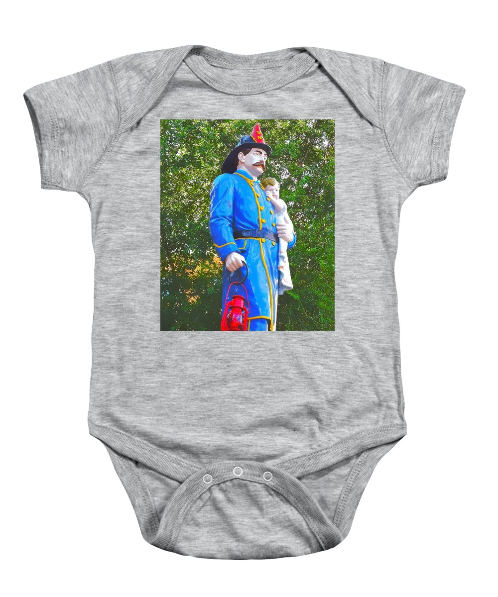 Fireman Baby Onesie featuring the photograph Firemen's Drinking Fountain by Tami Quigley