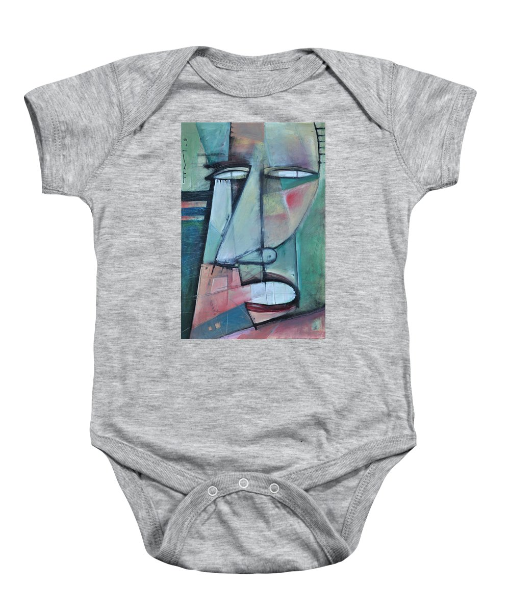Face Baby Onesie featuring the painting First Day North Of The Tension Line by Tim Nyberg
