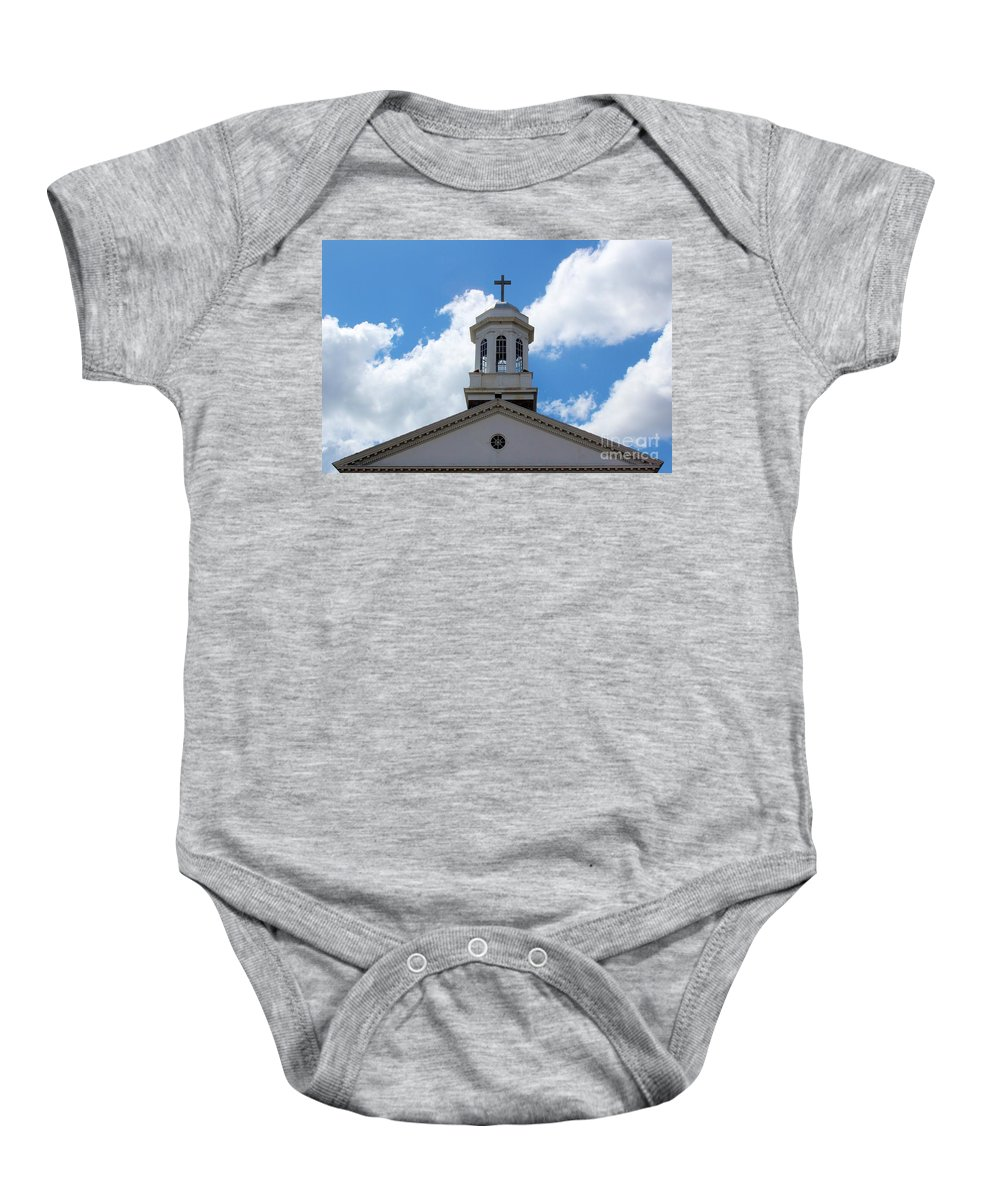 Church Baby Onesie featuring the photograph First United Methodist Of Plant City Fl by Robert Wilder Jr