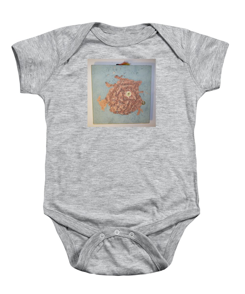 Nature Water Wildlife Animals Baby Onesie featuring the mixed media Fish 3 by William Douglas