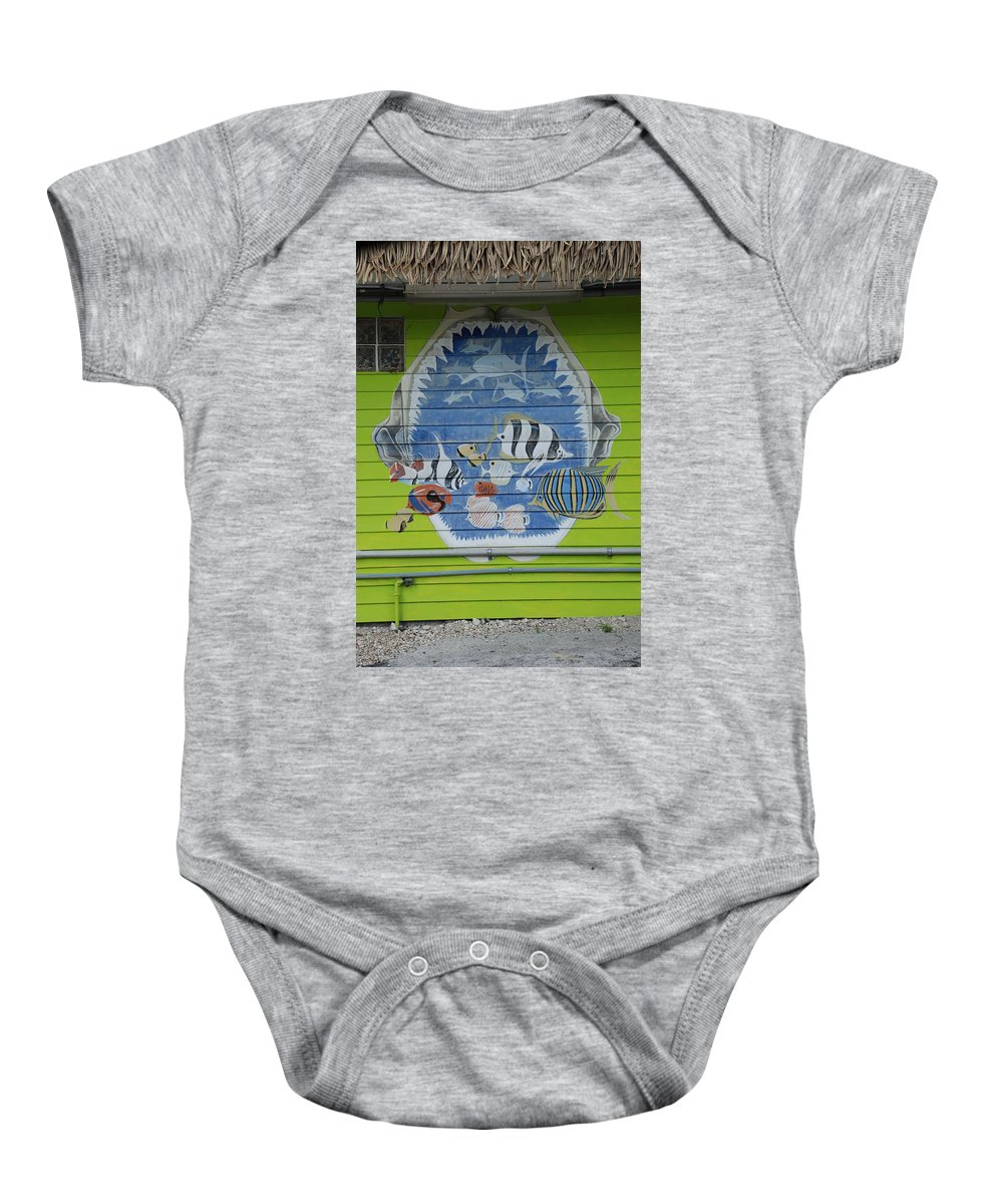 Teeth Baby Onesie featuring the photograph Fish by Rob Hans