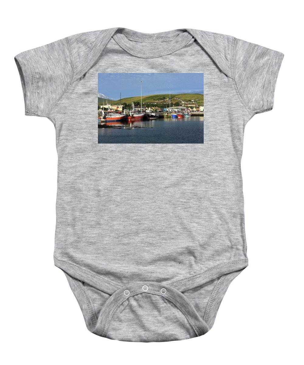 Ireland Baby Onesie featuring the photograph Fishing Fleet At Dingle, County Kerry, Ireland by Aidan Moran