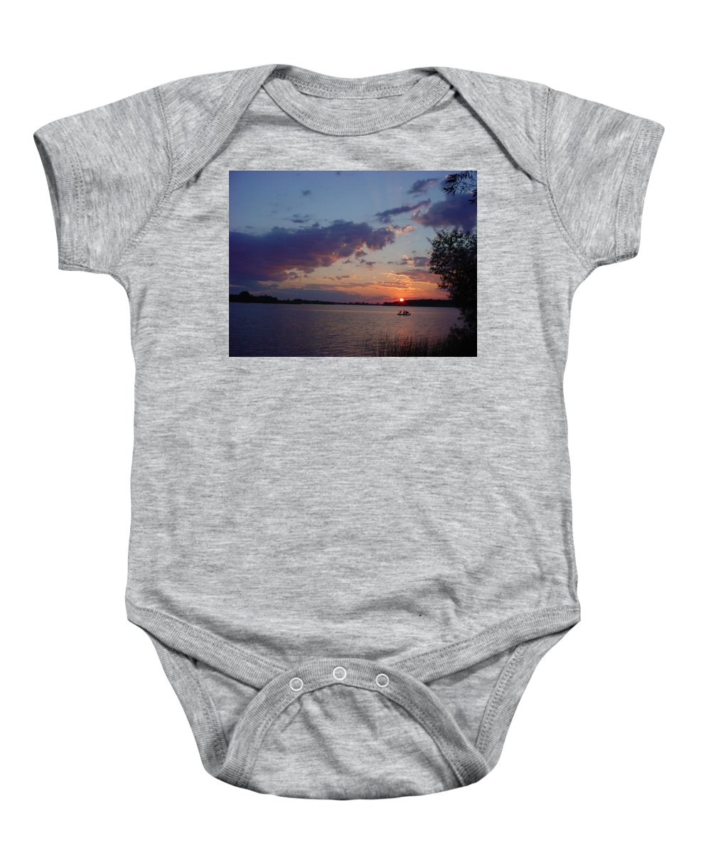 St.lawrence River Baby Onesie featuring the photograph Fishing On The St.lawrence River. by Jerrold Carton