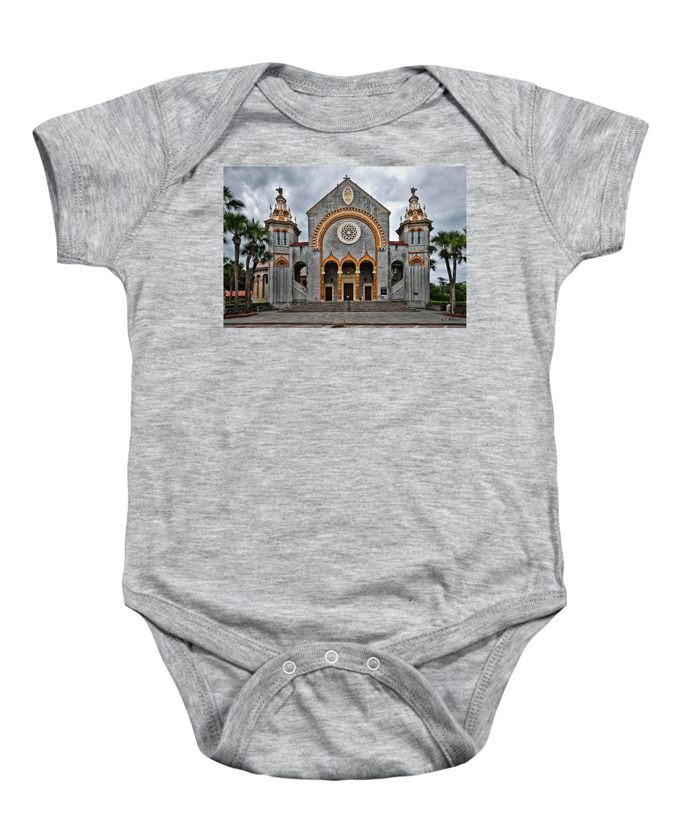 Church Baby Onesie featuring the photograph Flagler Memorial Presbyterian Church by Christopher Holmes