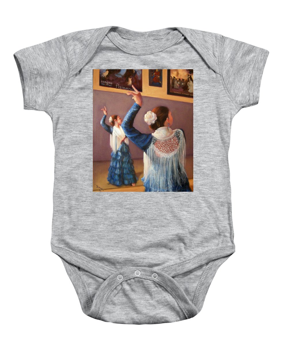 Realism Baby Onesie featuring the painting Flamenco 7 by Donelli DiMaria
