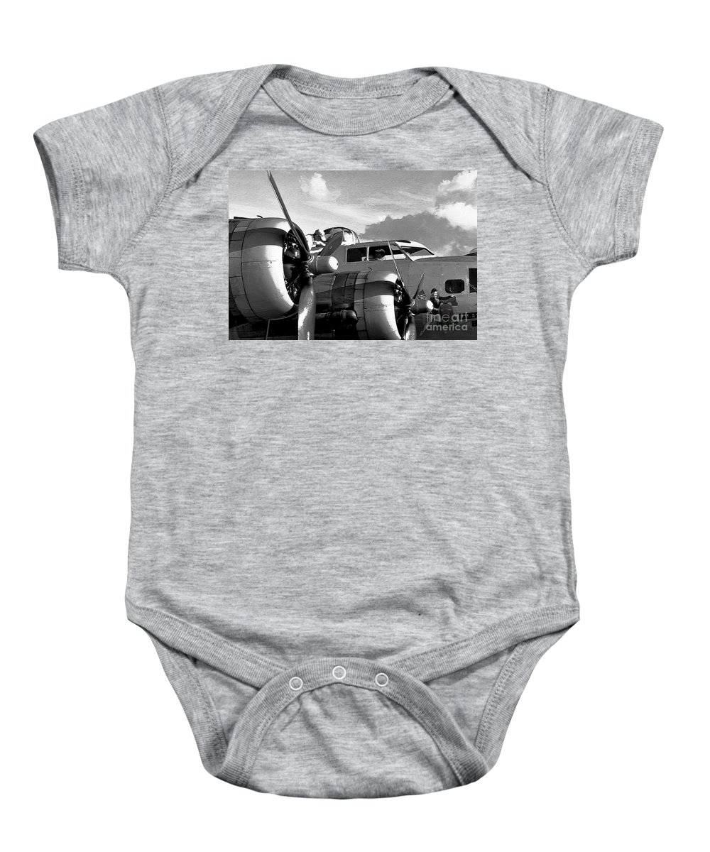 Flying Fortress Baby Onesie featuring the photograph Flight Check by David Lee Thompson