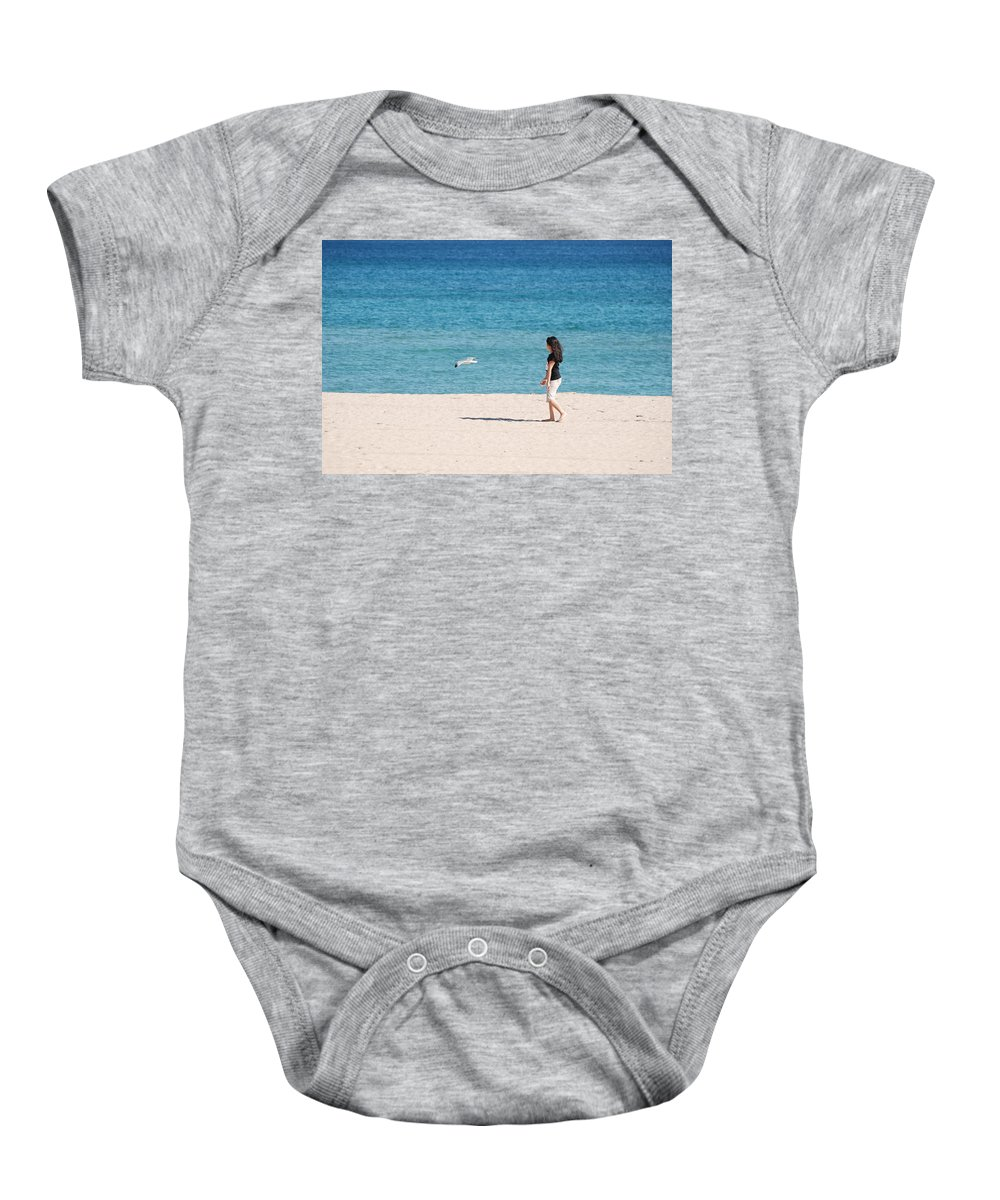 Ocean Baby Onesie featuring the photograph Flight Of The Angel by Rob Hans
