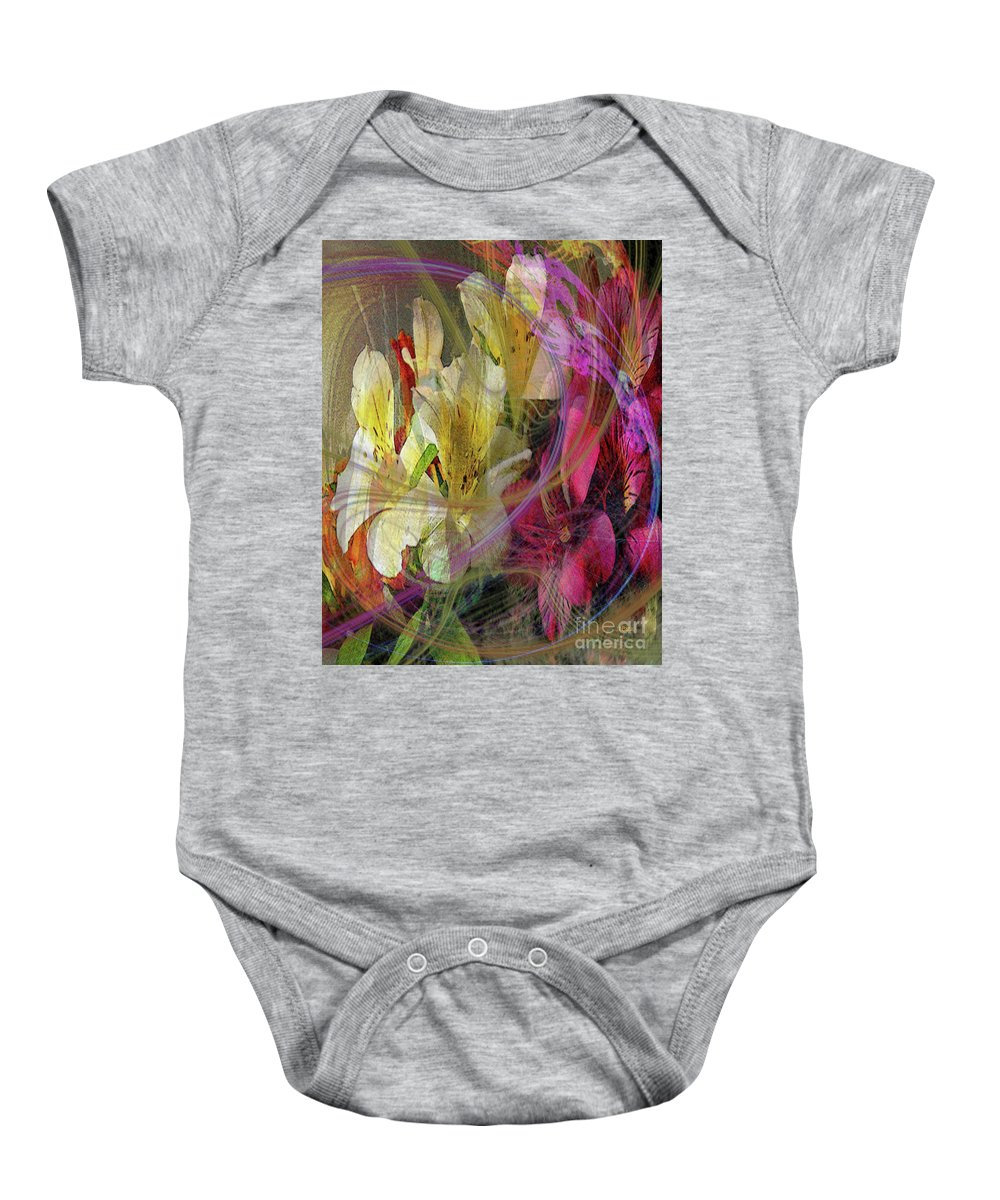 Floral Inspiration Baby Onesie featuring the digital art Floral Inspiration by John Beck