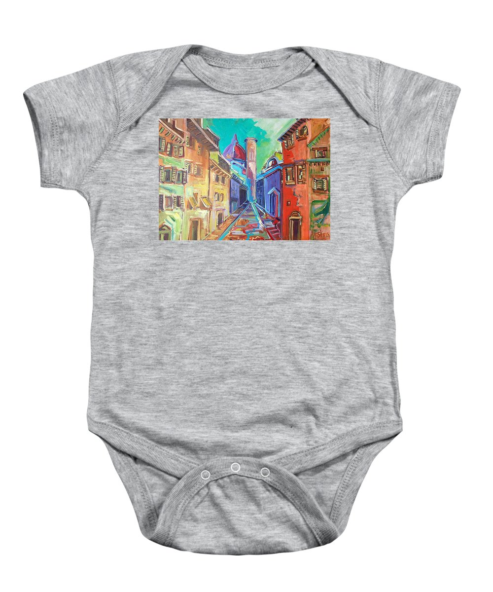 City Baby Onesie featuring the painting Florence by Kurt Hausmann