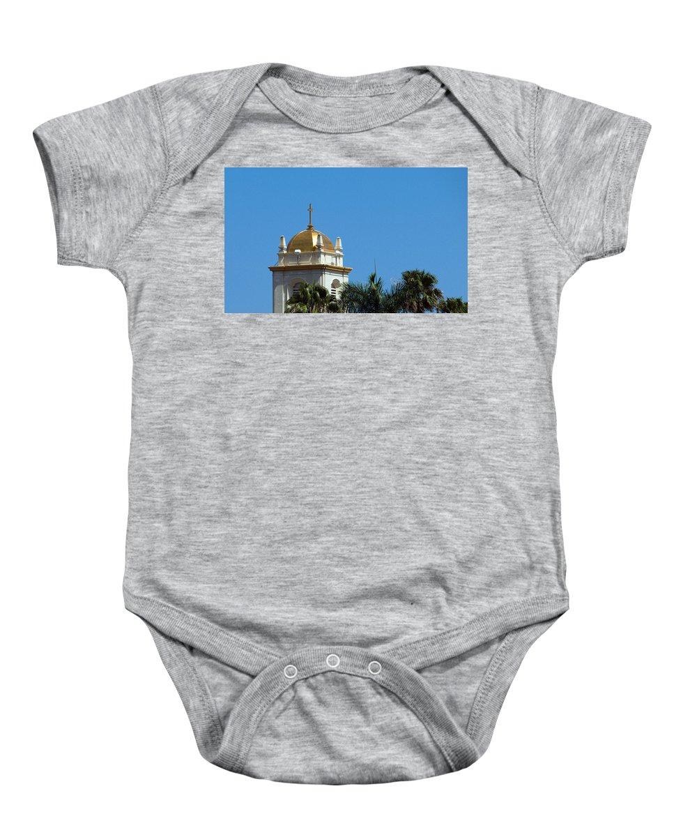Lake Baby Onesie featuring the photograph Florida Church by Allan Hughes