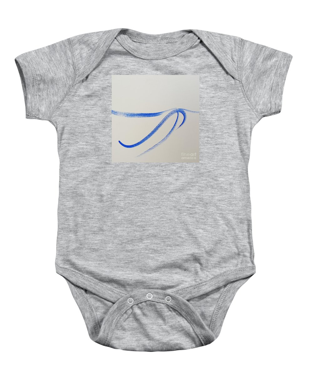 Abstract Baby Onesie featuring the painting Flow by Tony H