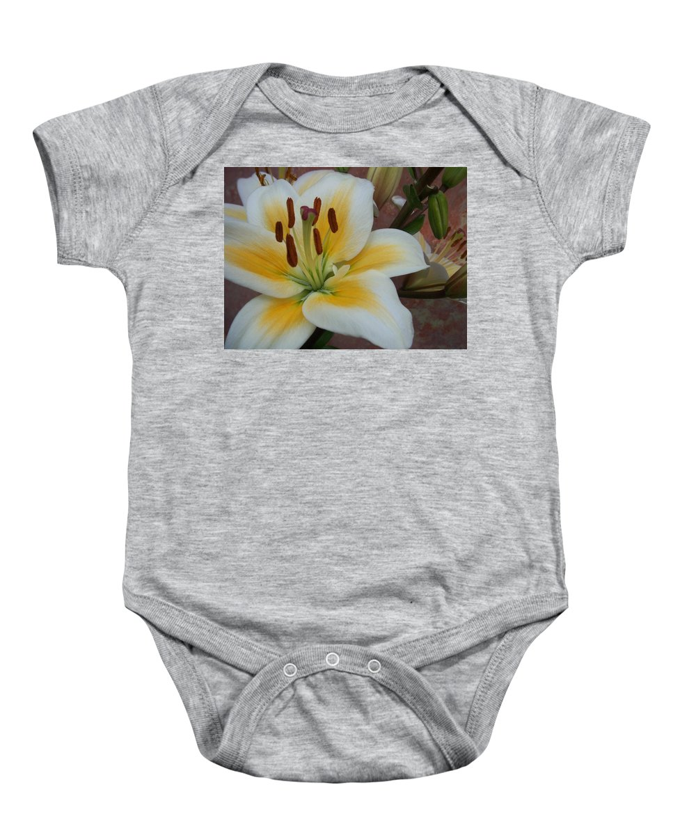 Flower Baby Onesie featuring the photograph Flower Close Up 3 by Anita Burgermeister