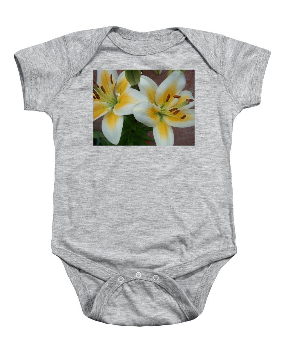 Flower Baby Onesie featuring the photograph Flower Close Up 5 by Anita Burgermeister