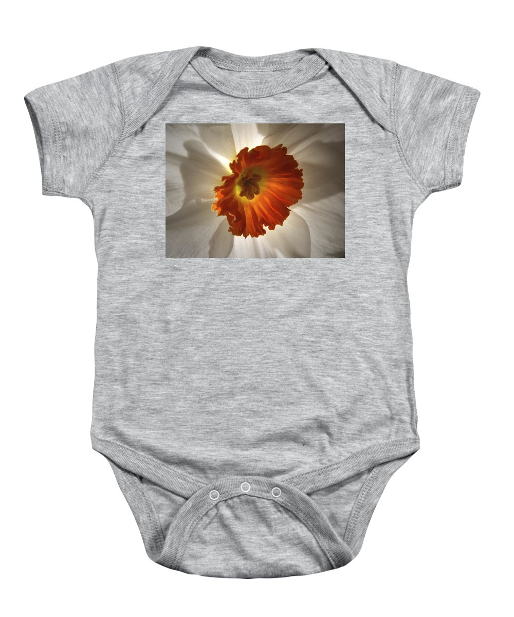 Flowers Baby Onesie featuring the photograph Flower Narcissus by Nancy Griswold
