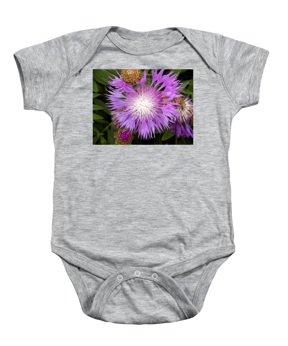 Flowers Baby Onesie featuring the photograph Flower Snowflake by William Tasker