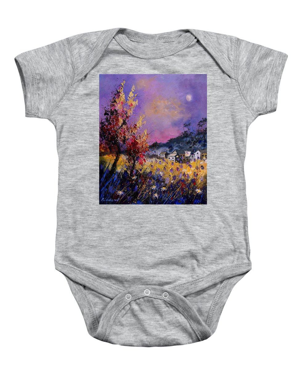 Baby Onesie featuring the painting Flowered Landscape 569070 by Pol Ledent