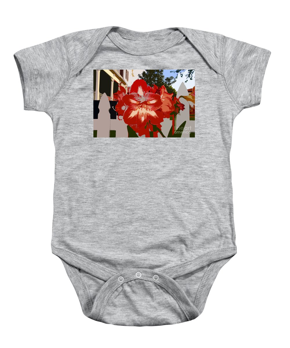 Flower Baby Onesie featuring the photograph Flowering Backyard Work Number 33 by David Lee Thompson