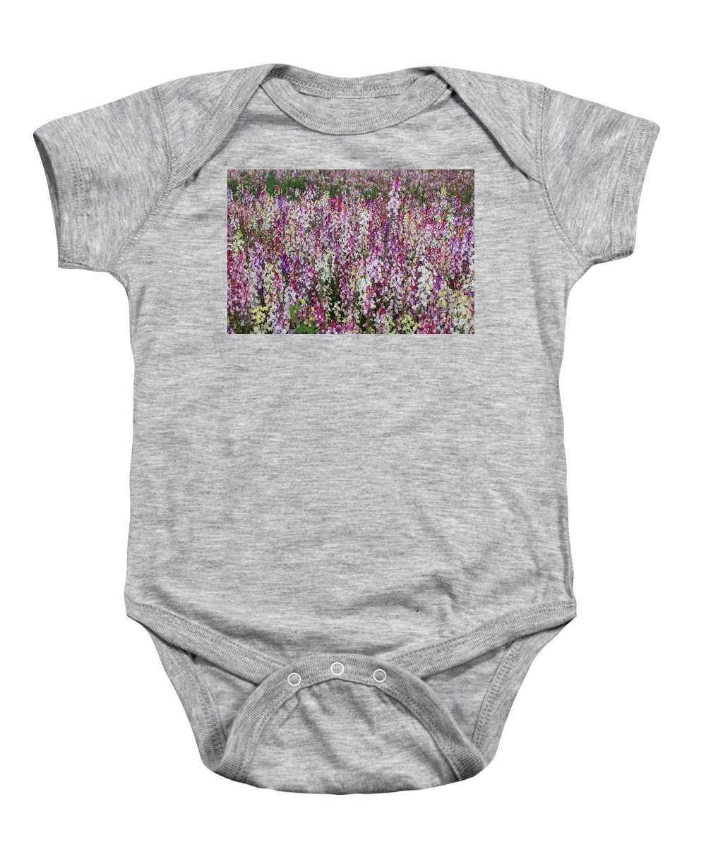 Field Of Flowers Baby Onesie featuring the photograph Flowers Forever by Carol Groenen