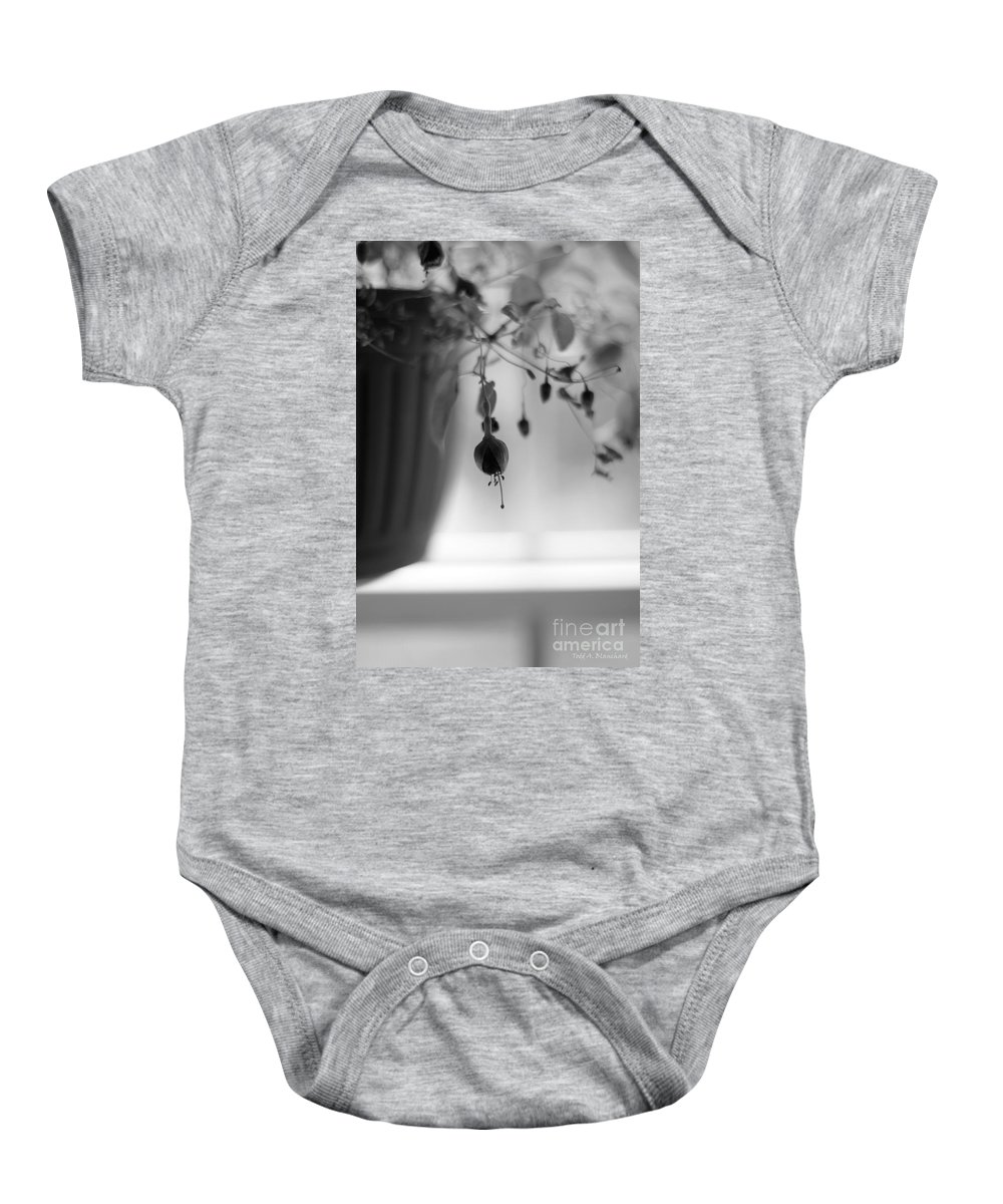 Flower Baby Onesie featuring the photograph Flowers In The Window by Todd Blanchard