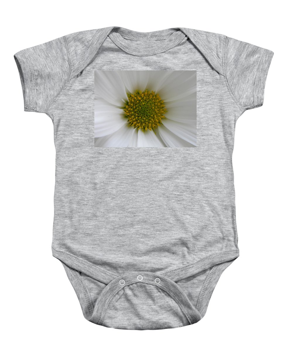 Nature Baby Onesie featuring the photograph Core Of A Daisy by Shannon Turek