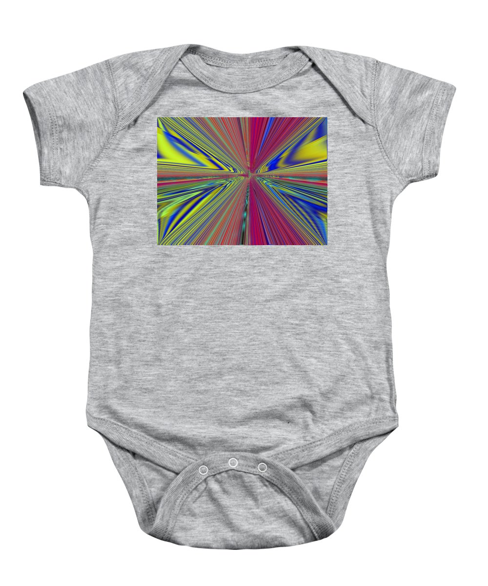 Abstract Baby Onesie featuring the digital art Fluid Motion by Tim Allen