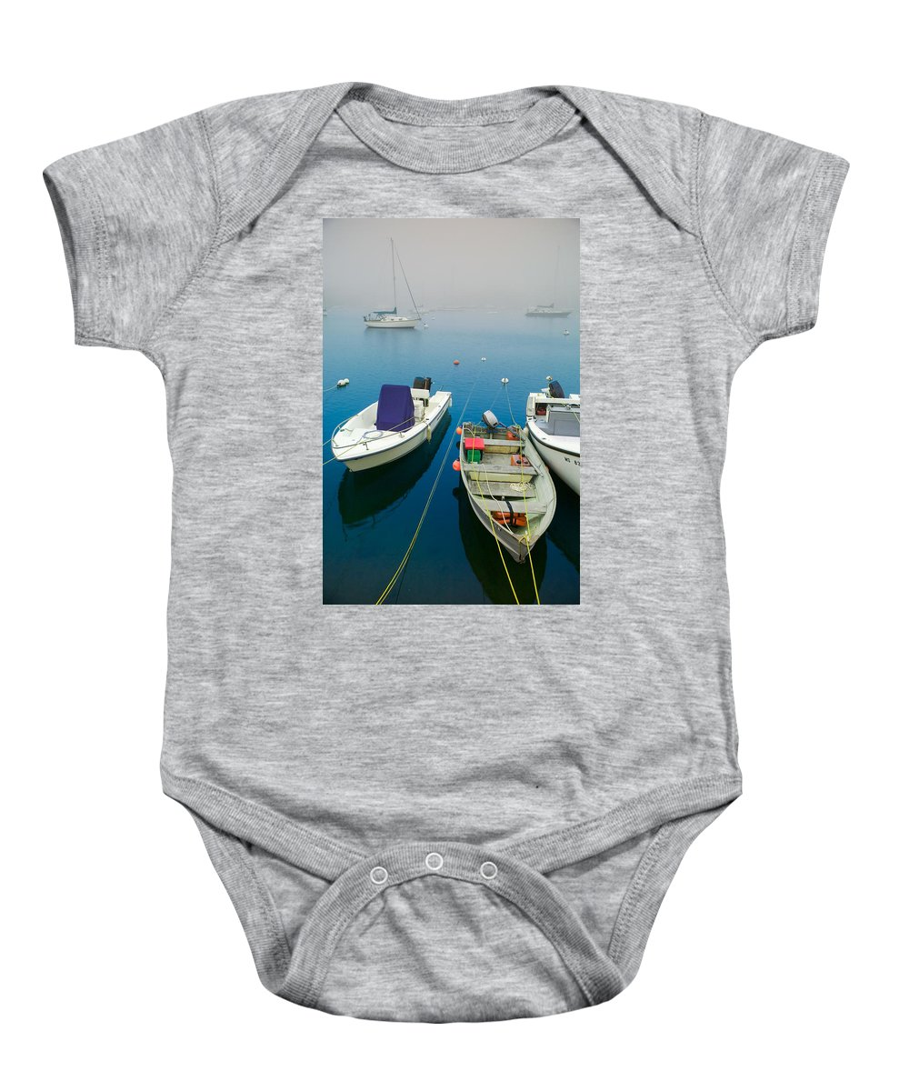 Blue Baby Onesie featuring the photograph Foggy Morning In Cape Cod Massachusetts by Matt Suess