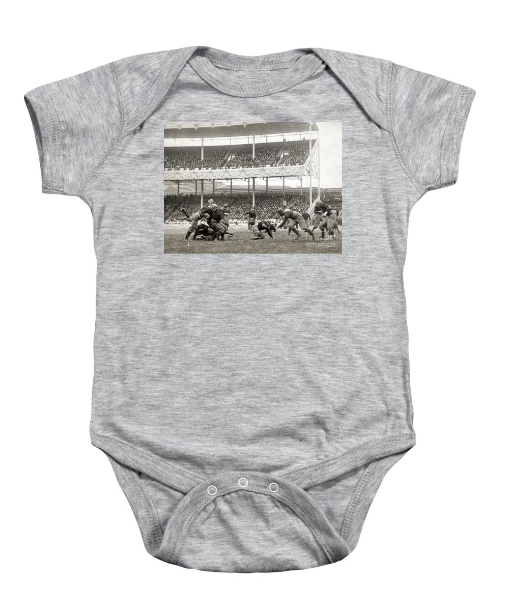 1916 Baby Onesie featuring the photograph Football Game, 1916 by Granger