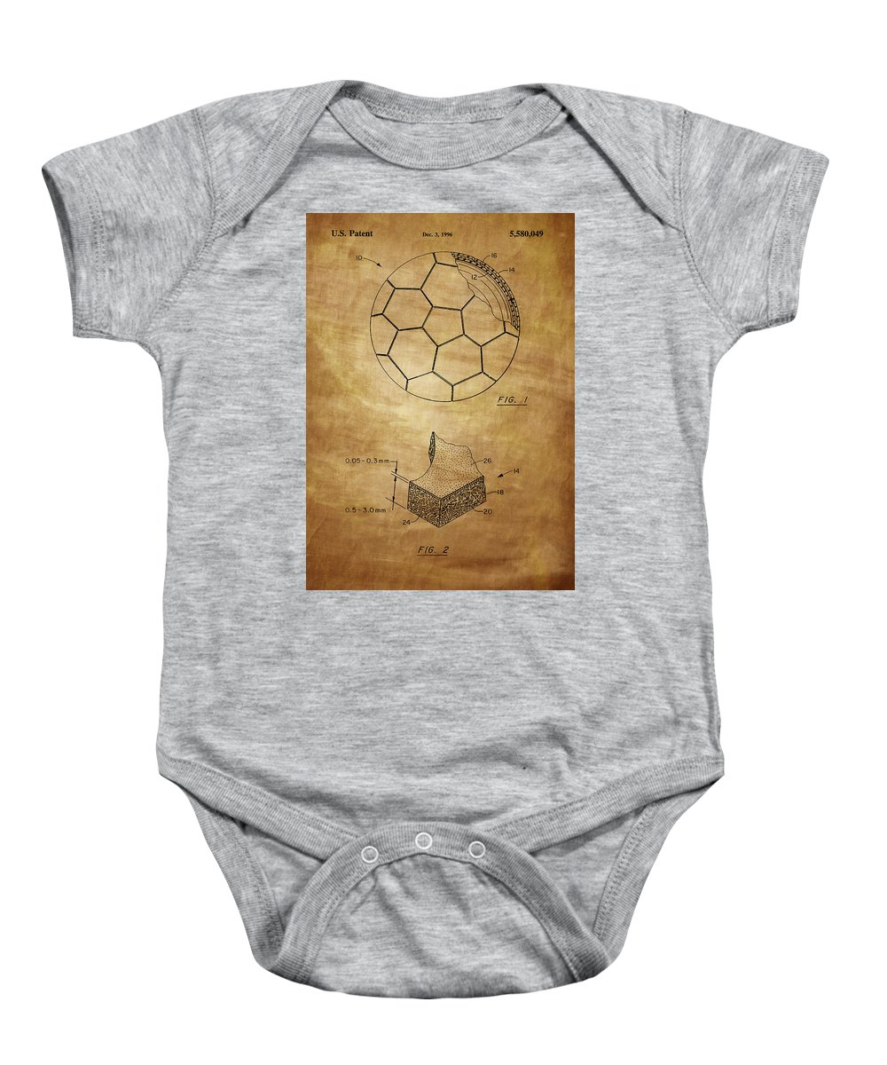 Football Baby Onesie featuring the photograph Football Patent by Chris Smith