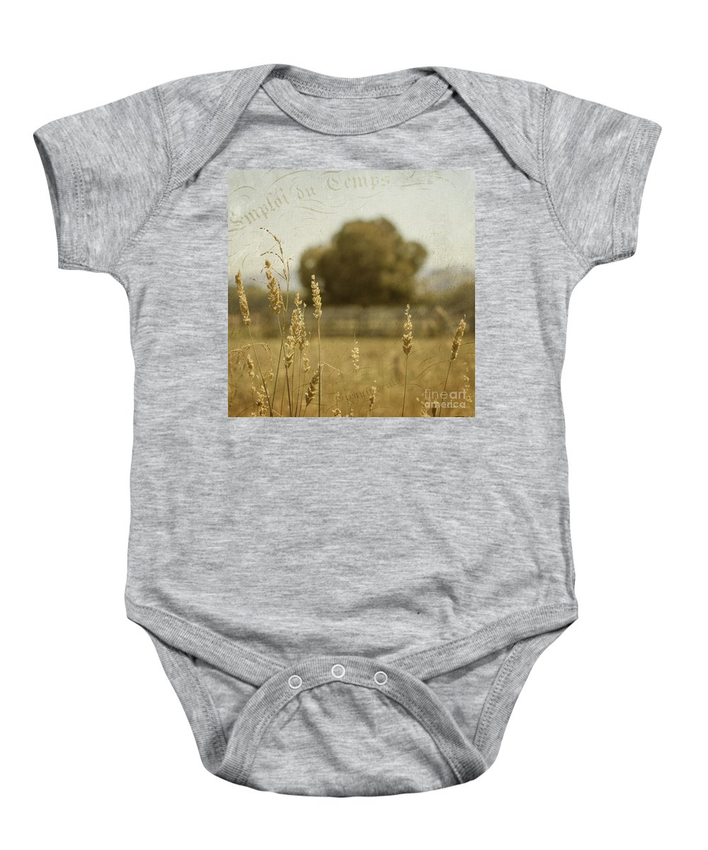 Summer Baby Onesie featuring the photograph For Everything There Is A Time by Linda Lees