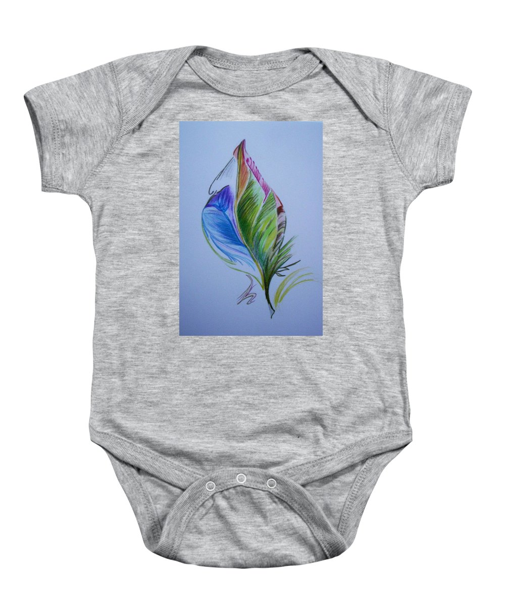Abstract Baby Onesie featuring the drawing For Starters by Suzanne Udell Levinger