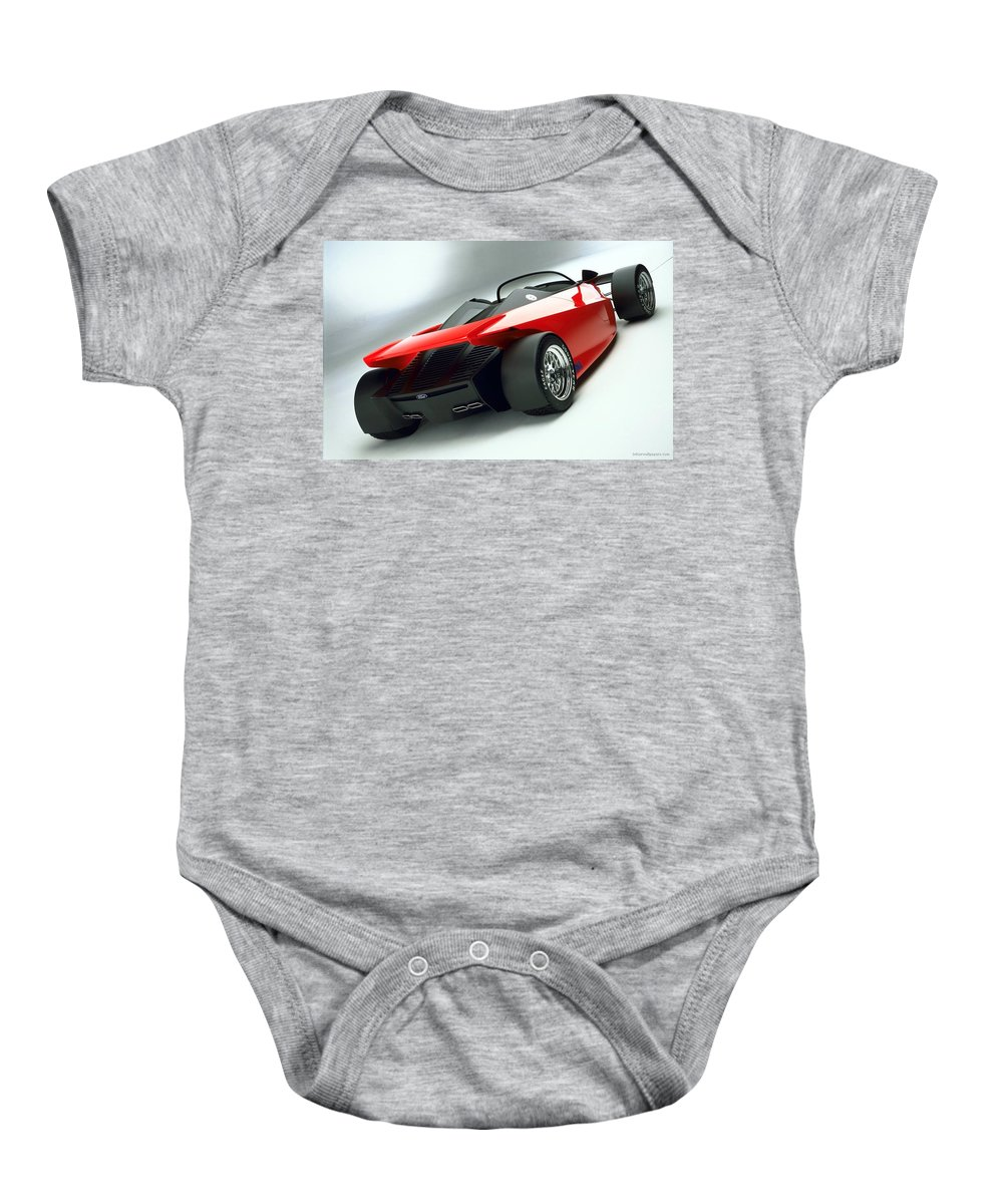 Baby Onesie featuring the digital art Ford Indigo Concept 2 by Alice Kent